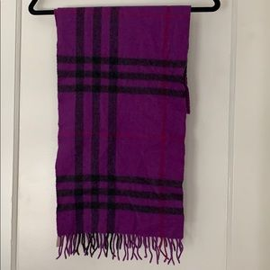 Purple Burberry Scarf